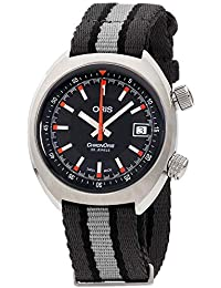 Chronoris Black Dial Canvas Strap Mens Watch 73377374054TSGRY · Oris