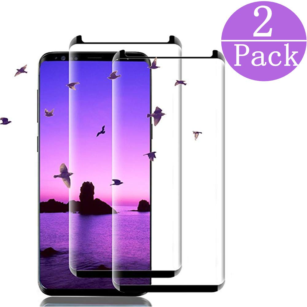 FURgenie Compatible Samsung Galaxy S9 PlusTempered Glass Screen Protector, FURgenie[2 - Pack] 9H Hardness,Anti-Fingerprint,Ultra-Clear,Bubble Free Screen Protector for Galaxy S9 Plus by FURgenie
