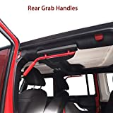 Red Rear Grab Handles Roll Bar for 2007-2018 Jeep