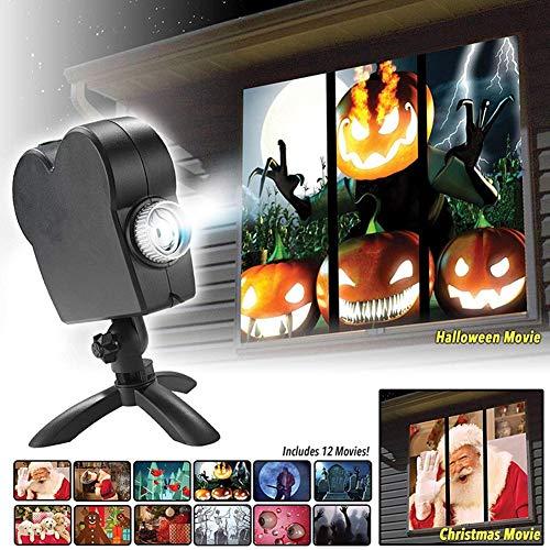 Halloween Projection 2019 (ZOOARTS 2019 Movies Displays Window Projector Wonderland Xmas Projection)