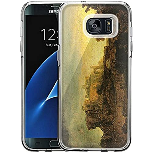 Samsung Galaxy S7 Edge Case, Snap On Cover by Trek Rembrandt Landscape with a Chateau One Piece Trans Case Sales