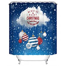 Abbott case_marry christmas (54)_100% Polyester Fabric Shower Curtain Standard Size Custom The size:48x72inch/120x180cm