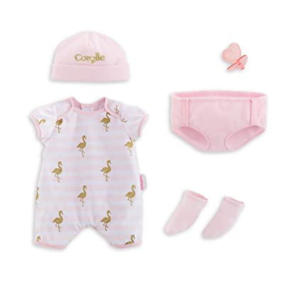 """Corolle - Layette Set - 6 Piece Clothing and Accessory Set for Mon Grand Poupon 14"""" Baby Dolls: Toys & Games"""