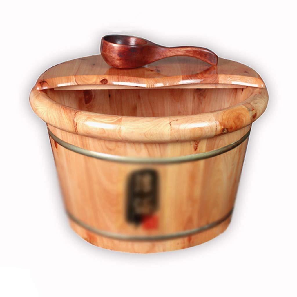 フットマッサージャーフットバス 41*26cm) : 木製バレルマッサージフットバスバレルスパフォームフットバレルラウンドカバー付きフットバス浴槽肥厚フットバスバレル (Color : Wood color, Size : 41 Wood*26cm) B07NQCDMKP Wood color 41*26cm, 龍山村:dd5df764 --- lembahbougenville.com