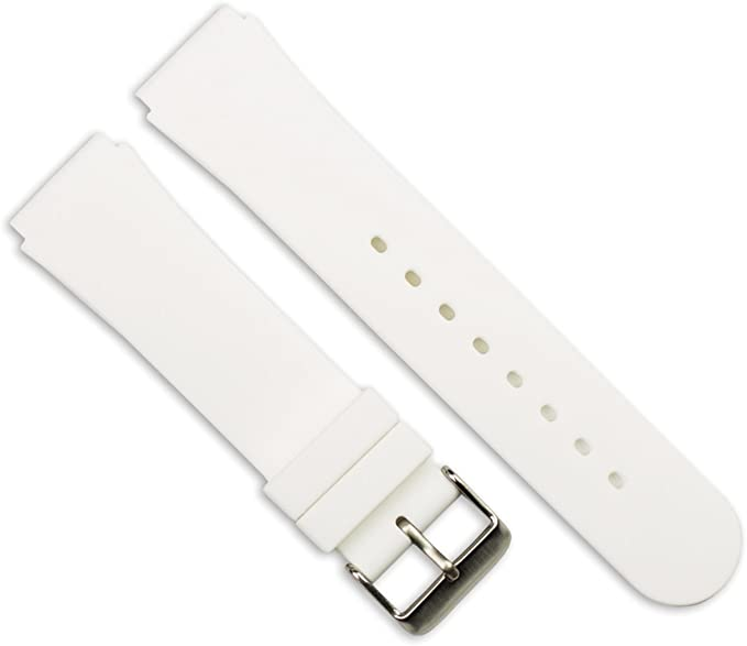 Replacement Watch Band - Silicone Rubber White 20mm