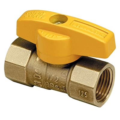Brasscraft TBV8 1/2 -Inch Gas Ball Valve, Rough Brass from Trumbull Industries