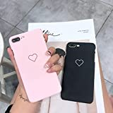 a528165107 shoppingmal New Men Women Sweet Love Heart Couple Frosted Hard Back Cover  Cute Protection Phone Case