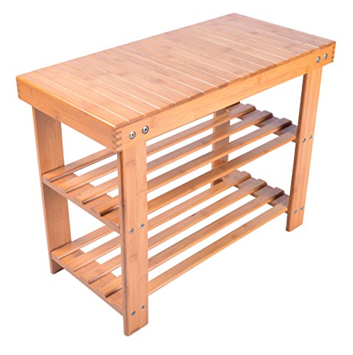 Natural Bamboo Bench 2 Tier Storage product image