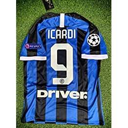 ICARDI#9 Inter Milan Home Soccer Jersey 2019-2020 Calcio Patch