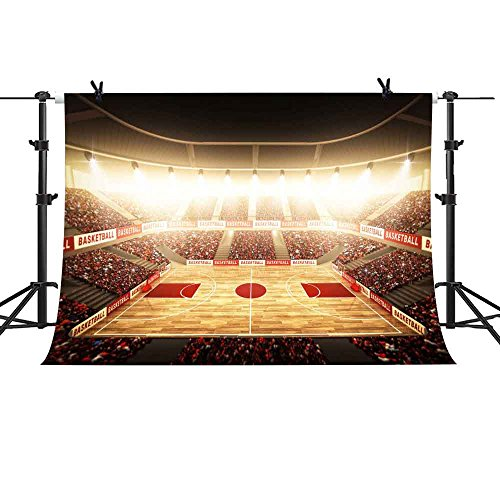 MME 10x7Ft Indoor Basketball Court Backdrop Lighting NBA Basketball Game Background Vinyl Video Studio Props Photo Props LXME098 (Nba Basketball Photo)