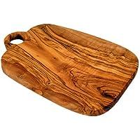Planche à découper en bois d'olivier avec trou - 24,5cm