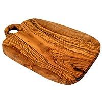 Planche à découper en bois d'olivier avec trou 24,5cm (Planche à découper en bois)