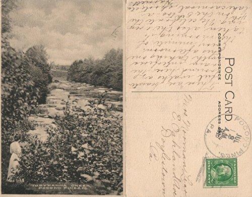 TOBYHANNA CREEK POCONO PINES PA 1915 ANTIQUE POSTCARD