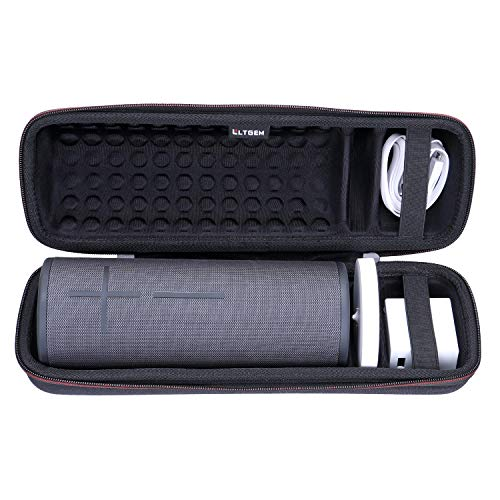 LTGEM Case for Ultimate Ears UE MEGABOOM 3 Portable Bluetooth Wireless Speaker. Fits Charging Dock and Other Accessories.