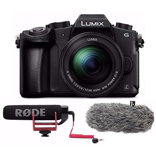 PANASONIC LUMIX G85 4K Mirrorless Camera with Rode VMGO Video Mic GO and DDC-GO DeadCat Go Artificial Fur Wind Shield