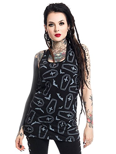 Heartless Clothing Top CRYPT schwarz Schwarz XL