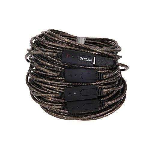 Geplink® 40 Meters Active USB 2.0 Extension Amplifier Cable
