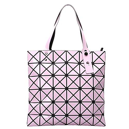 Mefly Diamante geométrico Bolso plateado Pink