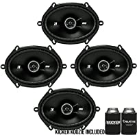 Kicker DSC680 6x8-Inch (160x200mm) Coaxial Speakers, 4-Ohm bundle
