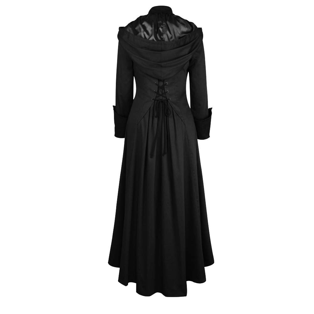 Fanxing Damen Lange /Ärmel Solid Trim Button Bandage Cape Unregelm/ä/ßiger Mantel Outwear Mantel