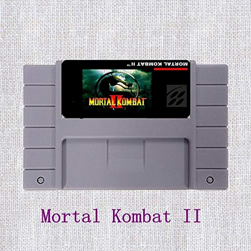 (Mortal Kombat 2 16 bit Big Gray Game Card For NTSC Game Player - MD card Game Card For Sega Mega Drive For Genesis)