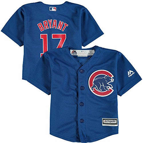 Kris Bryant Chicago Cubs Kids Cool Base Alternate Blue Replica Jersey Large 7
