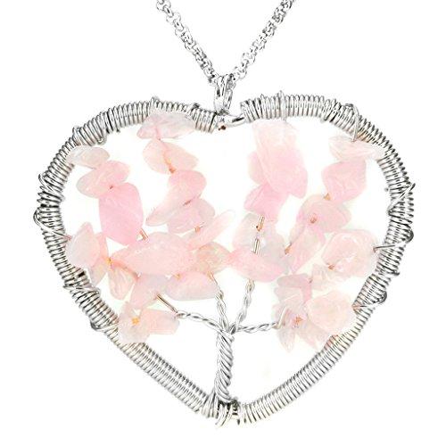 Aprilsky Eternal Gemstone Necklace Stainless