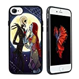 iPhone 8 Case,iPhone 7 Case,The Nightmare Before Christmas Hybrid TPU PC Printed Cover with Aluminum Metal,Sheet Shock-Absorption Anti-Scratch Bumper Cover
