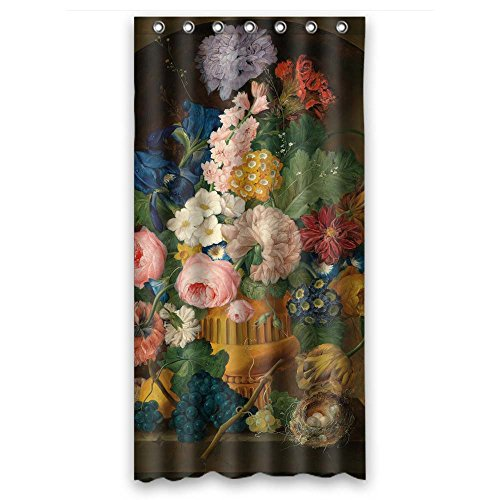 TonyLegner Famous Classic Art Painting Flowers Blossoms Shower Curtains Polyester Best Bf Kids Girl Hotel Kids Wife. Wipe Clean Width X Height / 36 X 72 inches/W H 90 180 cm(Fabric)
