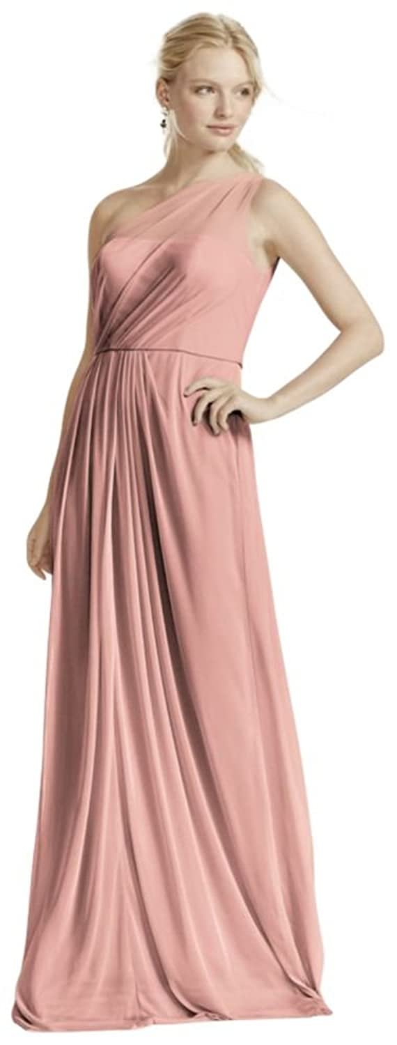 Long mesh bridesmaid dress with one shoulder neckline style f15928 long mesh bridesmaid dress with one shoulder neckline style f15928 at amazon womens clothing store ombrellifo Gallery