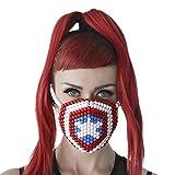 Captain America Kandi Mask Surgical by Kandi Gear