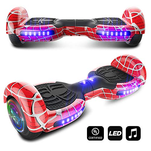 CHO Spider Wheels Series Hoverboard UL2272 Certified Hover Board with 6.5 inch Wheels Electric Scooter Smart Self Balancing Wheels - Kit Night Light Scooter