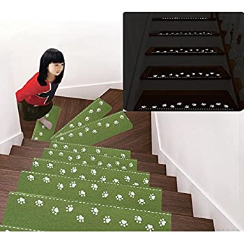 Uuouu Luminous Stair Treads Mats Anti Slip Rugs Night