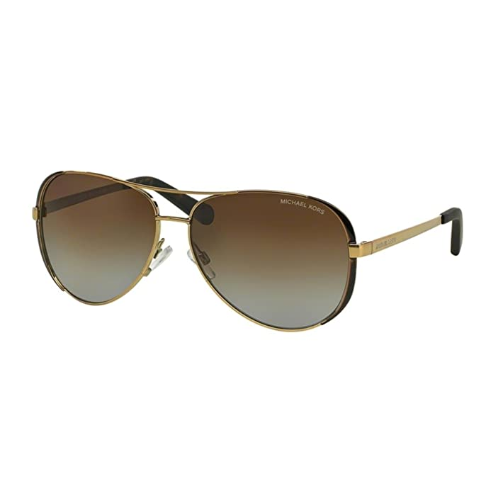 d7b4e13752 Michael Kors Women s Gradient Chelsea MK5004-100325-59 Rose Gold Aviator  Sunglasses