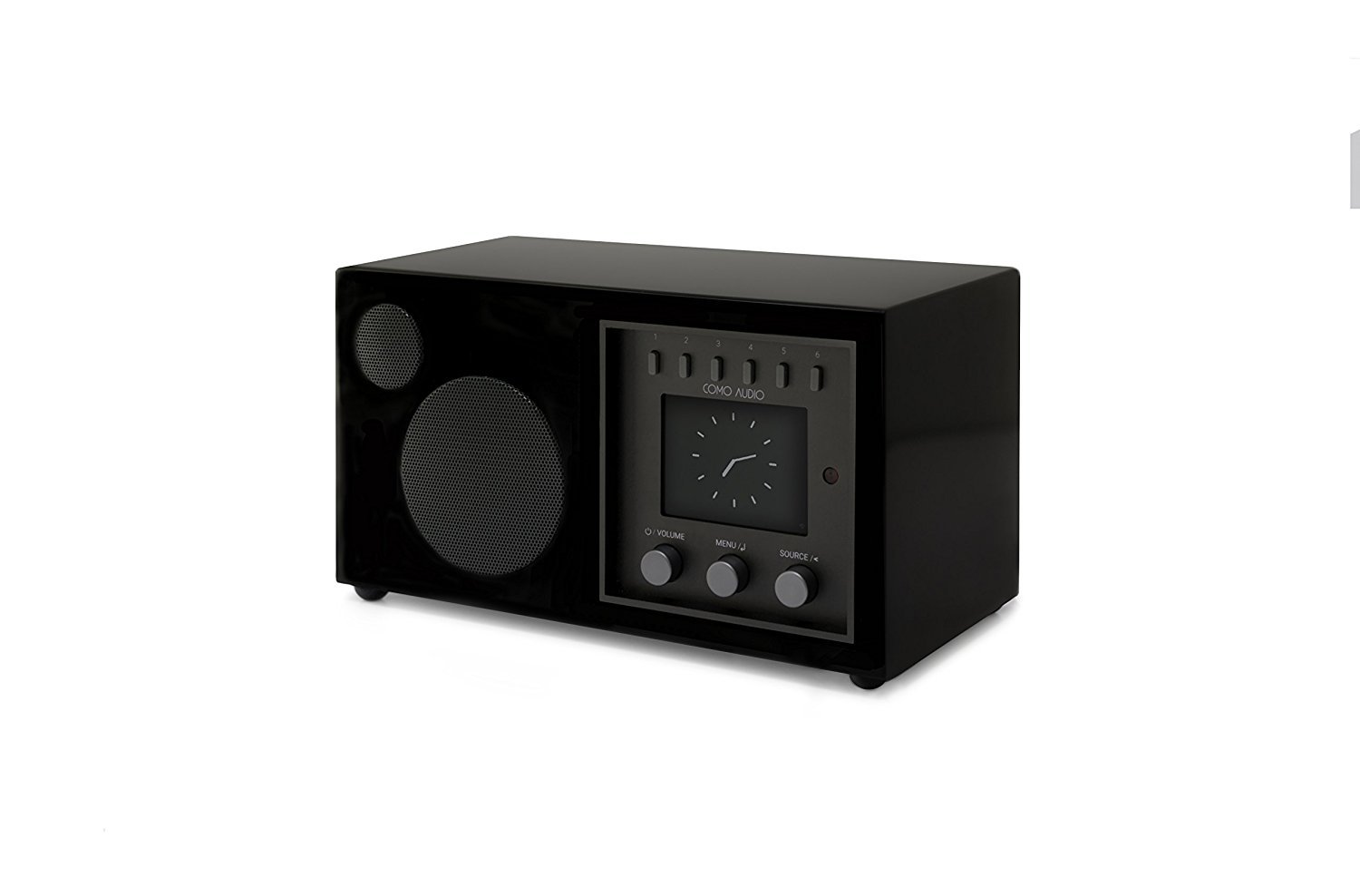 Como Audio: Solo - Wireless Music System with Internet Radio, Spotify Connect, Wi-Fi, FM, and Bluetooth - Piano Black