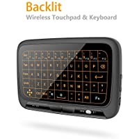 Mitid Backlit Wireless Touchpad Keyboard 2.4GHz Mini Keyboard With Touchpad for Computer Laptop TV Boxes Smart TV IPTV