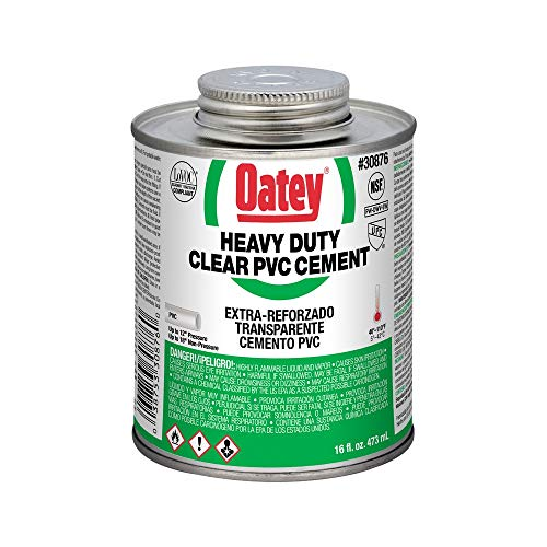 Oatey 30876 Hydraulic Cements, 16 oz, Clear
