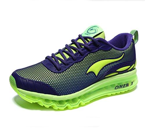 U-MAC Mens & Womens Fashion Sneaker Lightweight Fitness Air Cushion Sport Cross Country Running Shoes Green mens pVLTtdjP