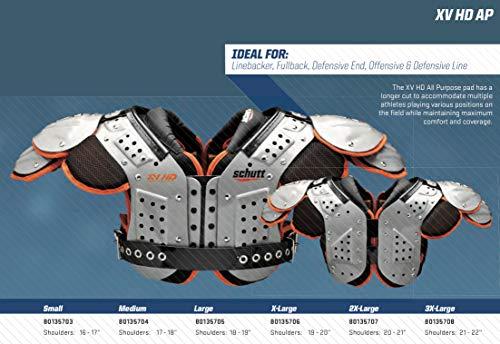 Amazon.com: Schutt Deportes Varsity – XV HD OL/DL hombro Pad ...