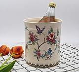 YIMI Utensil Crock, Ceramic Kitchen Utensil