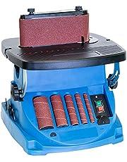 Güde 38353 GSBSM 450 spindelbandschuurmachine, 230 V, blauw