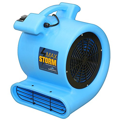 Soleaire max2915 High Velocity Air Mover Carpet Dryer Floor Fan, Blue