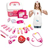 GAMZOO Doctor Kit Set Dentist Playset with Nurse Coat for Kids, Pretend Play Toy Medical Set for 3 Years Old Girls-Promote Fine Motor Skills & Educational Learning, Boost Imagination & Creativity
