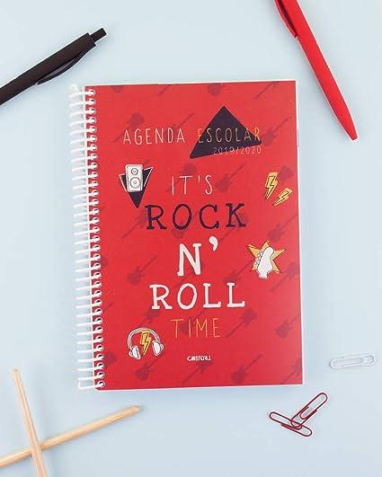 Casterli - Agenda Escolar 2019-2020 Have Fun - Día Página, Tamaño A5 (Rock)