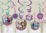 Disney Frozen Hanging (Pack of 12) Swirl Decorations Party Accessories