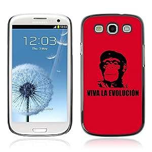 A-type Arte & diseño plástico duro Fundas Cover Cubre Hard Case Cover para Samsung Galaxy S3 III / i9300 i717 ( Viva La Evolucion Evolución Che Chimp )