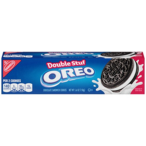 Oreo Double Stuf Chocolate Sandwich Cookies 56 Ounce Pack of 12
