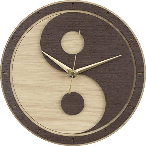 (Yin Yang Wooden Clock (Yin and Yang/Yin-Yang))