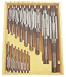 Westward 4LGU5 Adjustable Hand Reamer Set, HSS, 16 Pcs