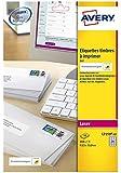 Avery L7159 Boîte de 240 Etiquettes Autocollantes pour Timbres (24 par Feuille) - 63,5x33,9mm - Impression Laser - Blanc